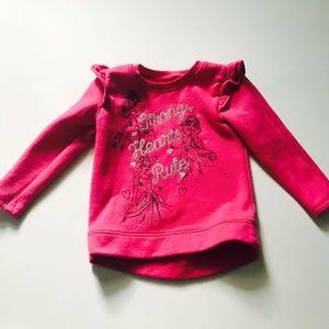 Disney princess girls fleece sweatshirt size 2T